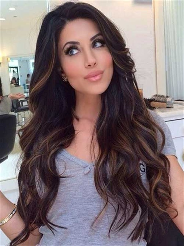 Ombre Highlight Human Hair Lace Front Wigs