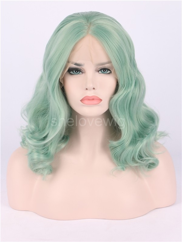 short wave synthetic lace front wig heat resisting