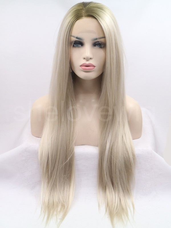 top quality ombre synthetic hair lace front wig