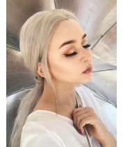 ponytail hairstyle with lace wig