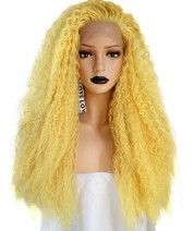 new design popular ombre curl synthetic lace front wig