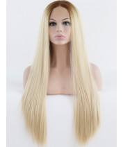 beauty natural front lace wig synthetic hair silk straight