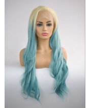 long length synthetic hair lace front wig curl