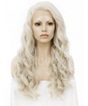 ash blonde synthetic lace front wigs