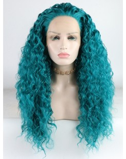 curl synthetic lace front wig for girl