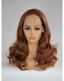 synthetic lace front wig black pink
