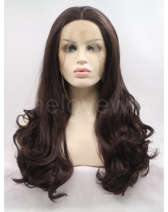 wave brown synthetic lace wig