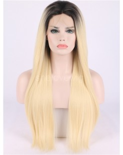 black blonde women lace front wig