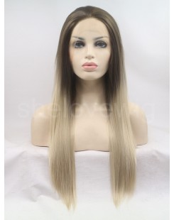 medium length synthetic hair lace wig