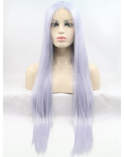 white blue synthetic lace wig