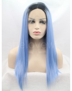 black blue lace front wig