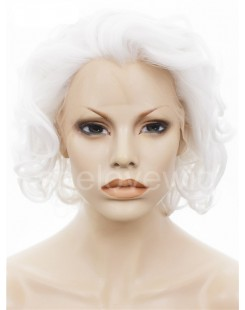 white lace front wigs short