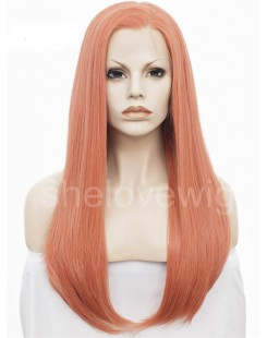dark pink synthetic lace wigs