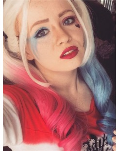 synthetic lace front wig suicide squad